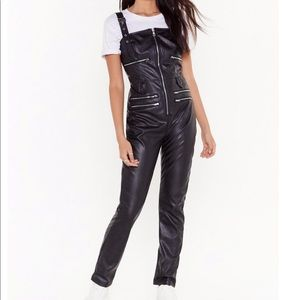 Nastygal faux leather jumpsuit